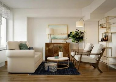 Symmetrical-furniture-layout-in-a-3D-rendering-of-a-glam-contemporary-lounge
